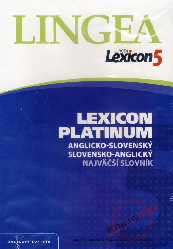 LINGEA Lexicon5 Platinum anglicko-slovenský slovensko-anglický najväčší slovník