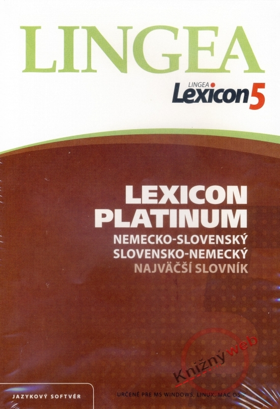 LINGEA Lexicon5 Platinum nemecko-slovenský slovensko-nemecký najväčší slovník