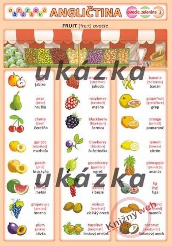 Obrázková angličtina 2 - ovocie, zelenina - Petr Kupka a kol.