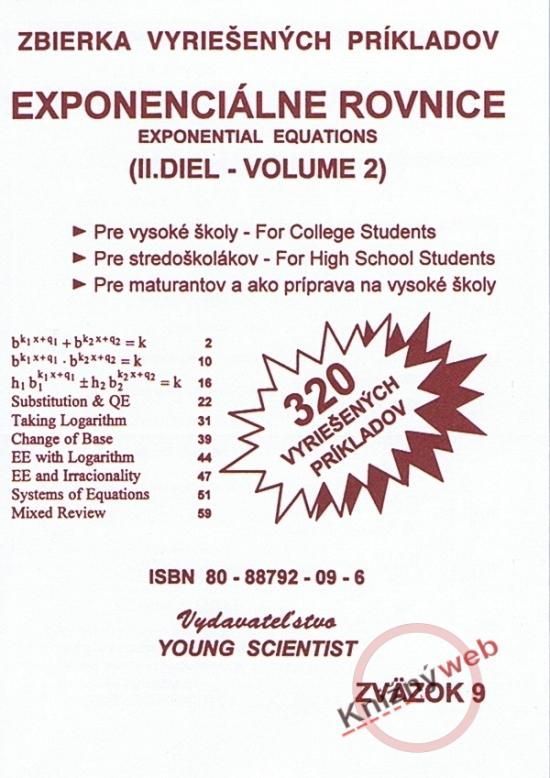 Exponenciálne rovnice /Exponential equations - II. diel