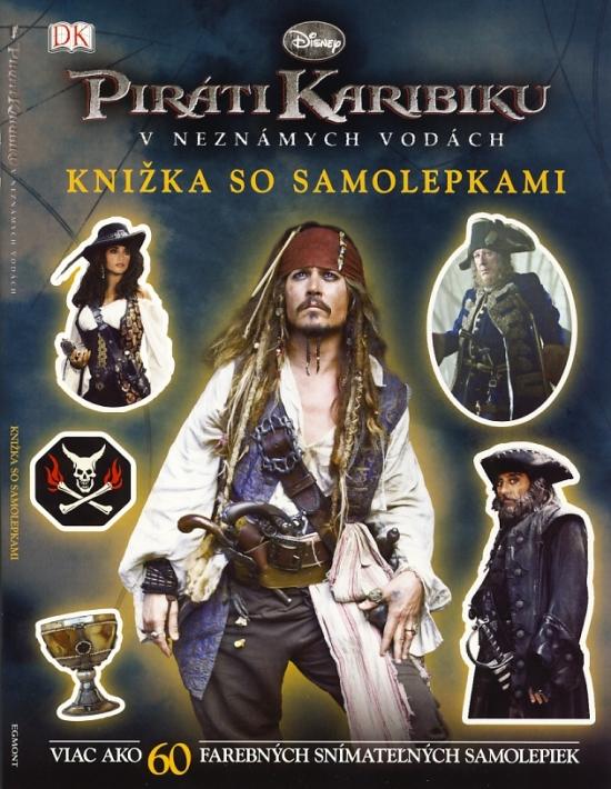 Piráti Karibiku - V neznámych vodách - Knižka so samolepkami