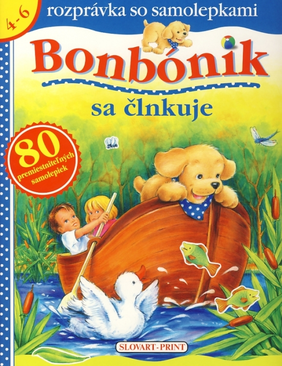 Bonbónik sa člnkuje - rozprávka so samolepkami