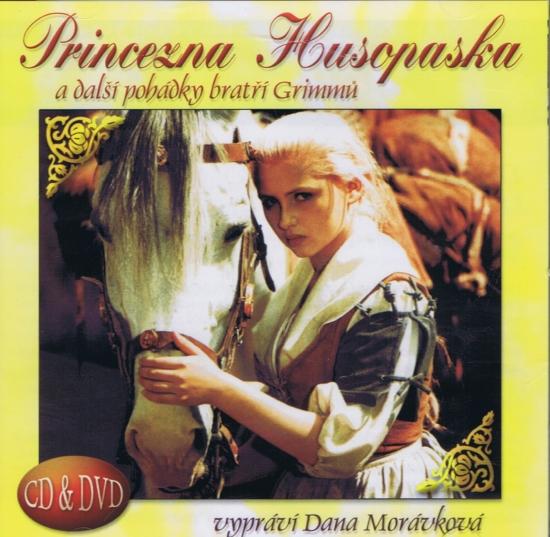 Princezna husopaska a další pohádky bratří Grimmů CD+DVD
