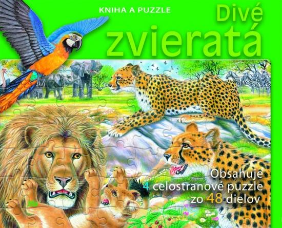 Divé zvieratá - Kniha a puzzle