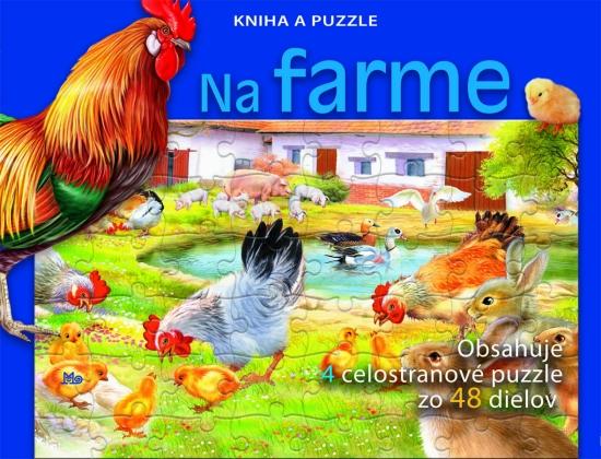 Na farme - Kniha a puzzle