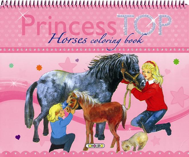 Princess TOP Horses coloring book (kone)