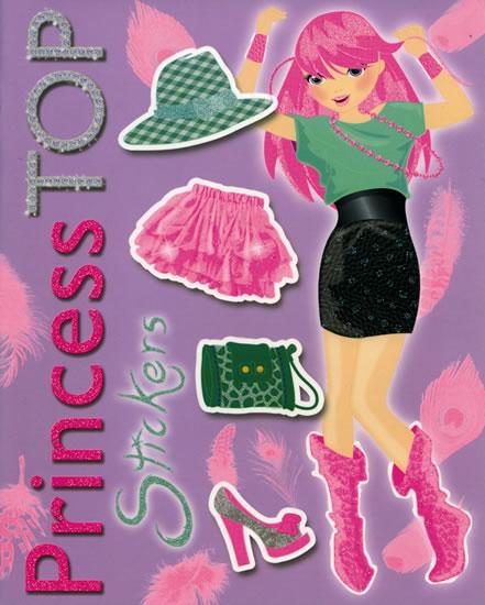 Princess TOP Stickers (fialová)