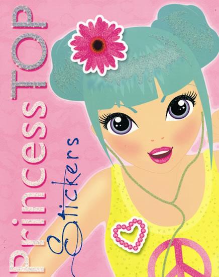 Princess TOP Stickers (ružová s kvetom)