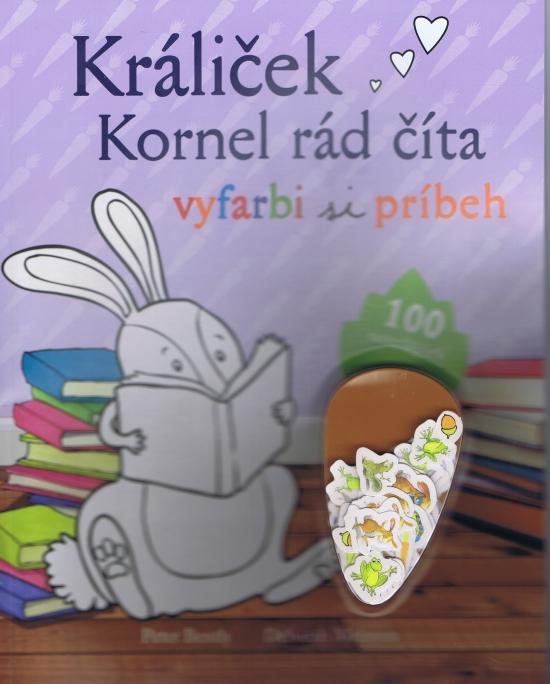 Králiček Kornel rád číta - vyfarbi si príbeh