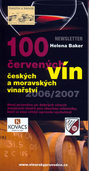 100 červených vín českých a moravských vinařství