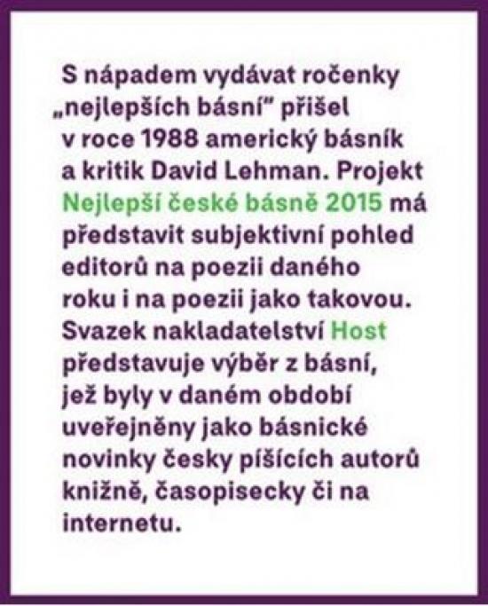 Nejlepší české básně 2015 - Tomáš, Petr Borkovec, Gabriel