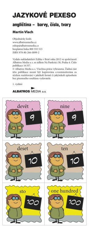 Jazykové pexeso - angličtina - barvy, čísla, tvary - Martin Vlach