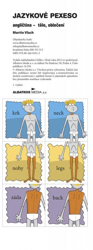 Jazykové pexeso - angličtina - tělo, oblečení - Martin Vlach