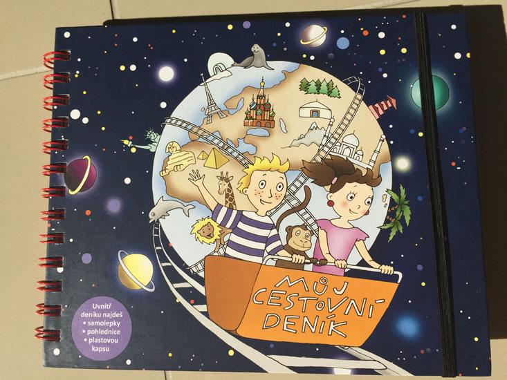 Můj cestovní deník - ilustrovaný zápisník pro děti od 6-9 let