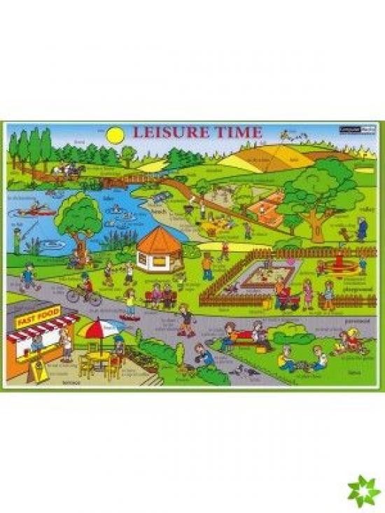 """Karta """"Leisure Time"""" - Volný čas"""