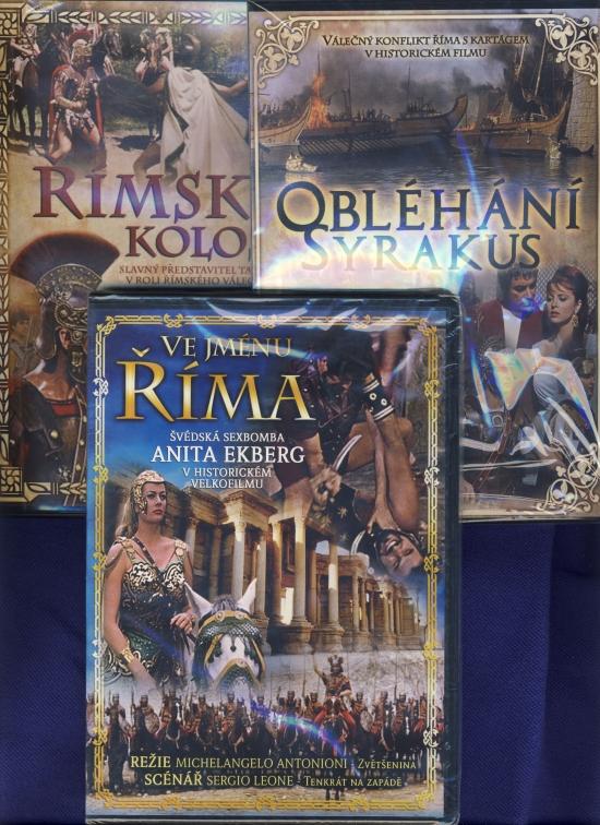 3x Historický film o Ríme: Obléhání Syrakus + Ve jménu Říma + Římský kolos - DVD