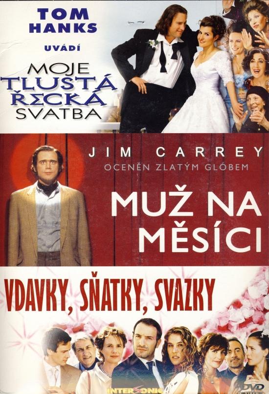 3x komédia: Moje tlustá řecká svatba + Miž na Měsíci + Vdavky, sňatky, svazky - DVD