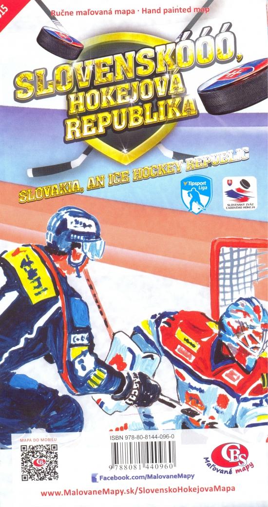 Slovensko - Hokejová republika - hokejová mapa