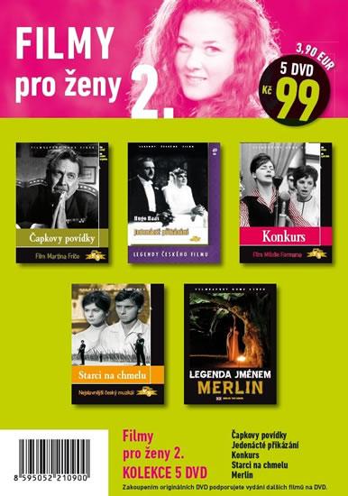 Filmy pro ženy 2. - 5 DVD pošetka