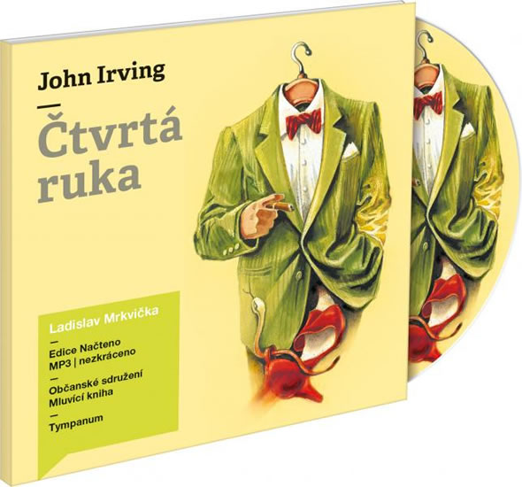 Čtvrtá ruka - 2CD mp3 (čte Ladislav Mrkvička) - John Irving