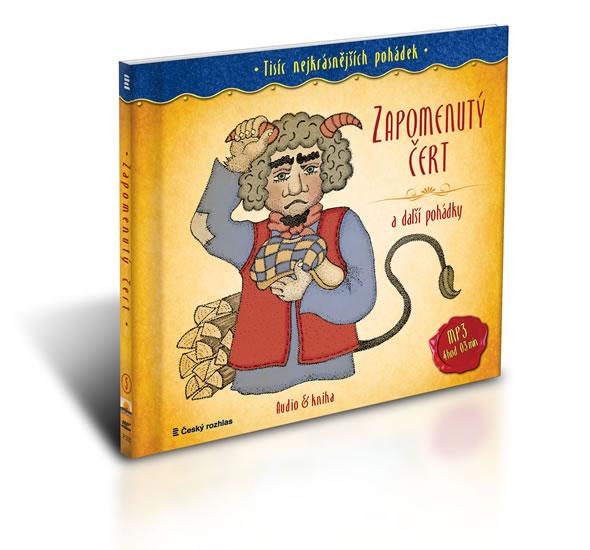Tisíc nejkrásnějších pohádek - Zapomenutý čert a další pohádky ( Audio 1CD MP3 + kniha) - Jan Drda