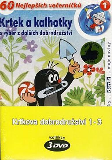 Krtkova dobrodružství 1-3 - 3 DVD (pošetka) - Zdeněk Miler