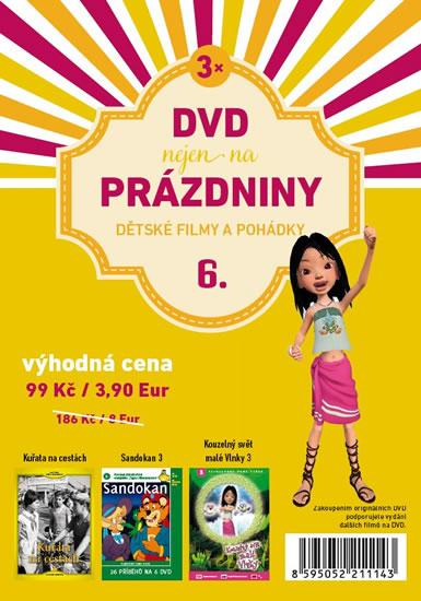 DVD nejen na Prázdniny 6. - Dětské filmy a pohádky - 3 DVD