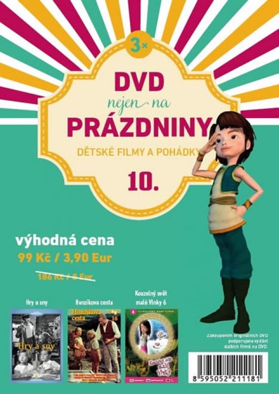 DVD nejen na Prázdniny 10. - Dětské filmy a pohádky - 3 DVD