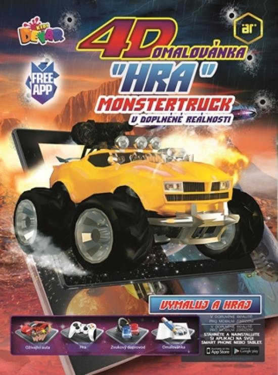 4D hra - omaľovanka Monster Truck