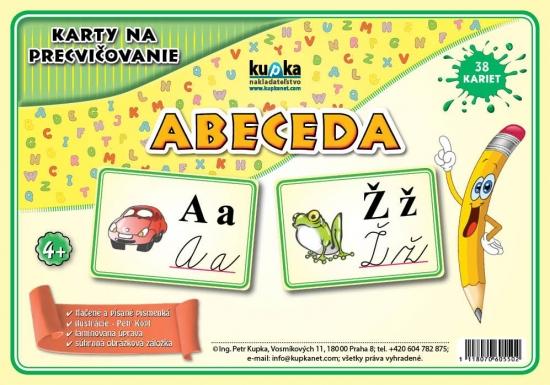 Karty na precvičovanie - abeceda - Petr Kupka