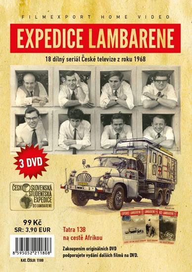 Expedice Lambarene - 3 DVD v papírové pošetce s letákem