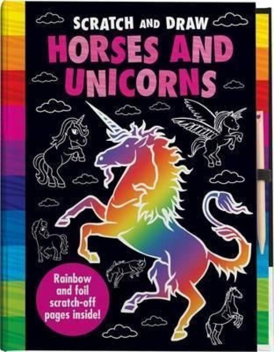 Vyškrabovacia kniha Kone a jednorožci
