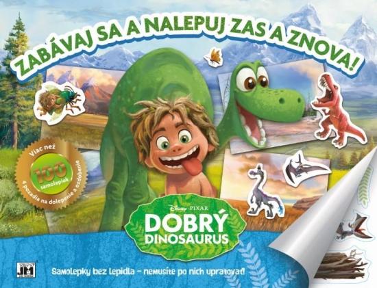 Zabávaj sa a nalepuj zas a znova! Dobrý dinosaurus