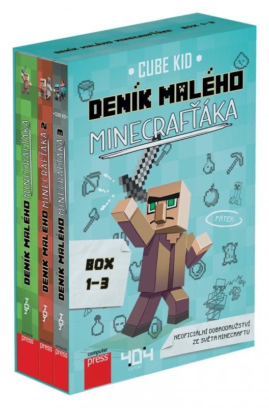 Deník malého Minecrafťáka BOX 1-3 - Cube Kid