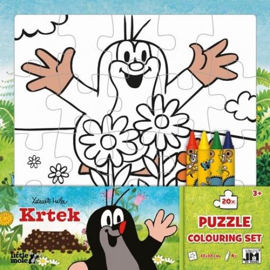 Puzzle vymaľovanky/ Krtko