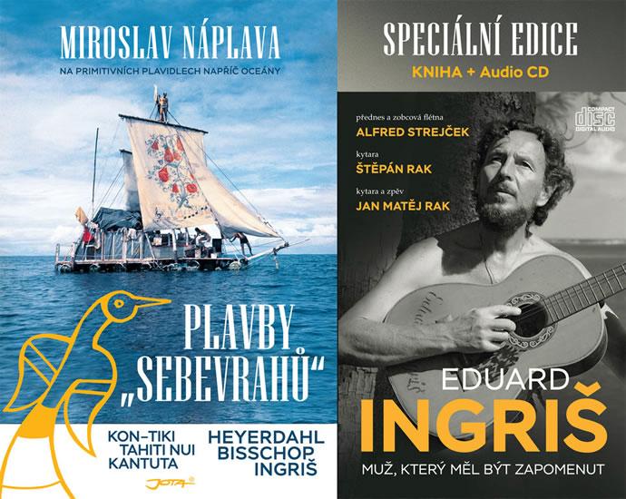 Plavby sebevrahů - Na primitivních plavidlech napříč oceány + CD - Miroslav Náplava