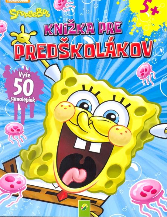 SpongeBob- Knižka pre predškolákov s 50 samolepkami(modrá)