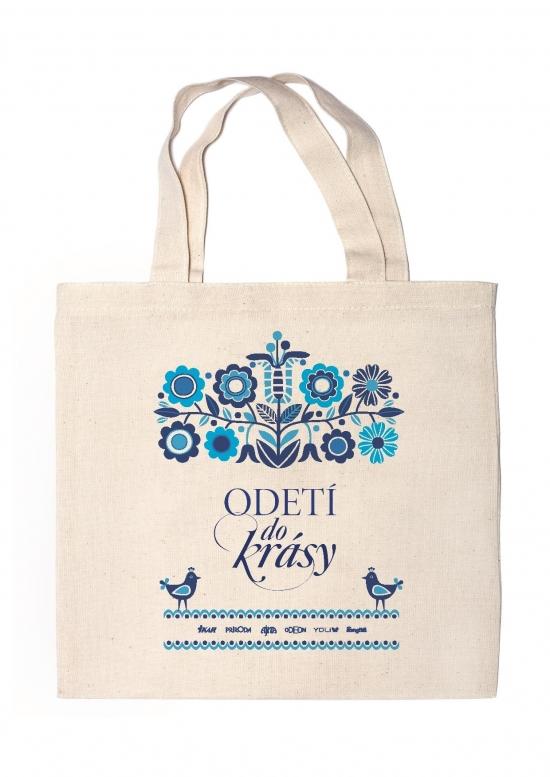 Plátenná taška - modrý motív