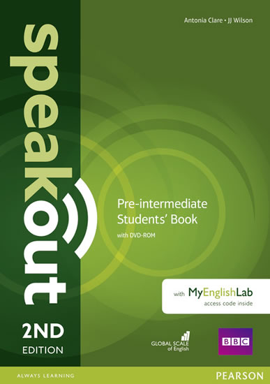 Speakout Pre-Intermediate Students´ Book with DVD-ROM and MyEnglishLab Access Code Pack - Antonia Clare