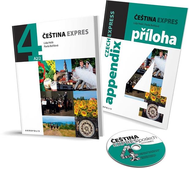 Čeština Expres 4 (A2/2) anglická + CD - Lída Holá, Bořilová Pavla