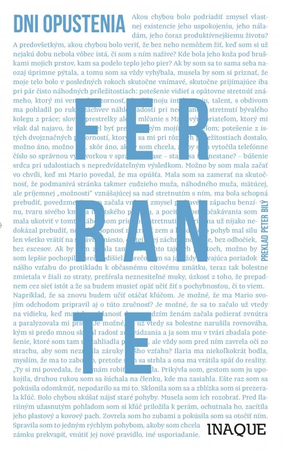 Dni opustenia - Elena Ferrante