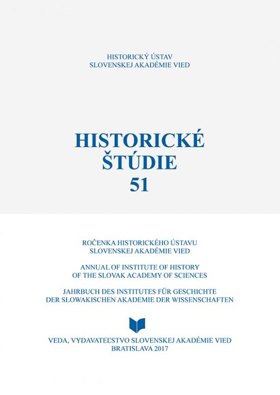 Historické štúdie 51 - Ingrid Kušniráková, Marcela Bednárová