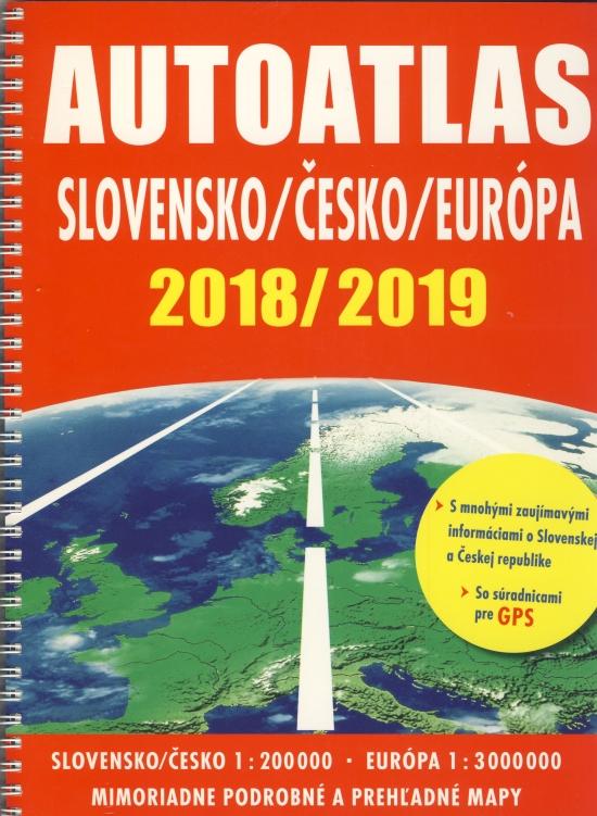 Autoatlas Slovensko/Česko/Európa 2018 /2019
