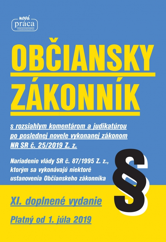 Občiansky zákonník – XI. novelizované vydanie platný od 1. júla 2019
