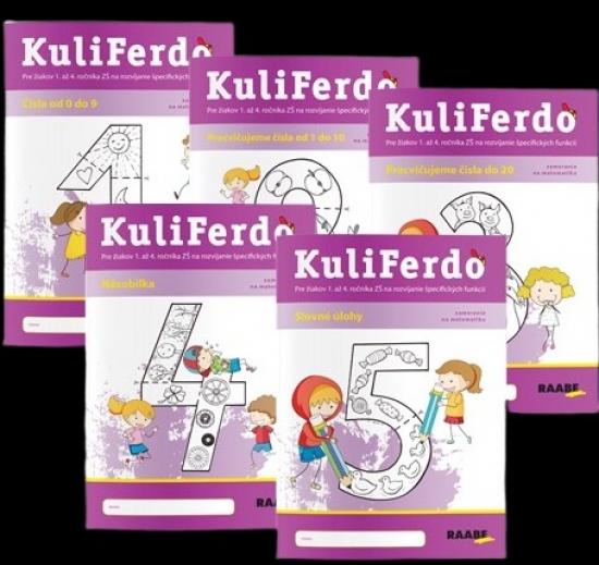 Kuliferdo – Vývinové poruchy učenia – číselka - sada (5ks)