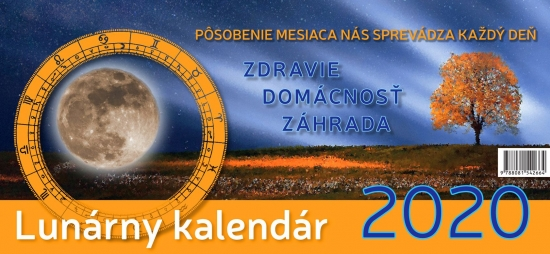 Lunárny kalendár 2020 - stolový