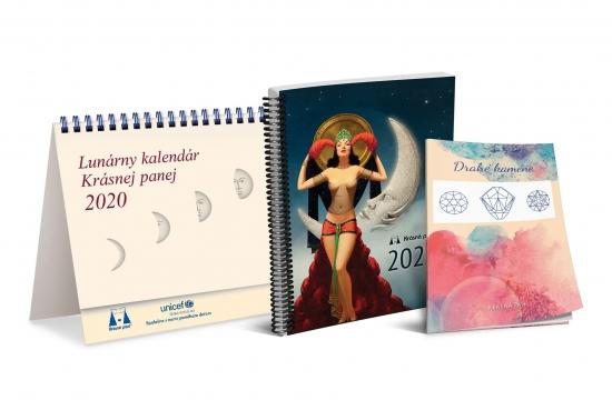 K-Lunárny kalendár Krásnej panej 2020 - s publikáciou