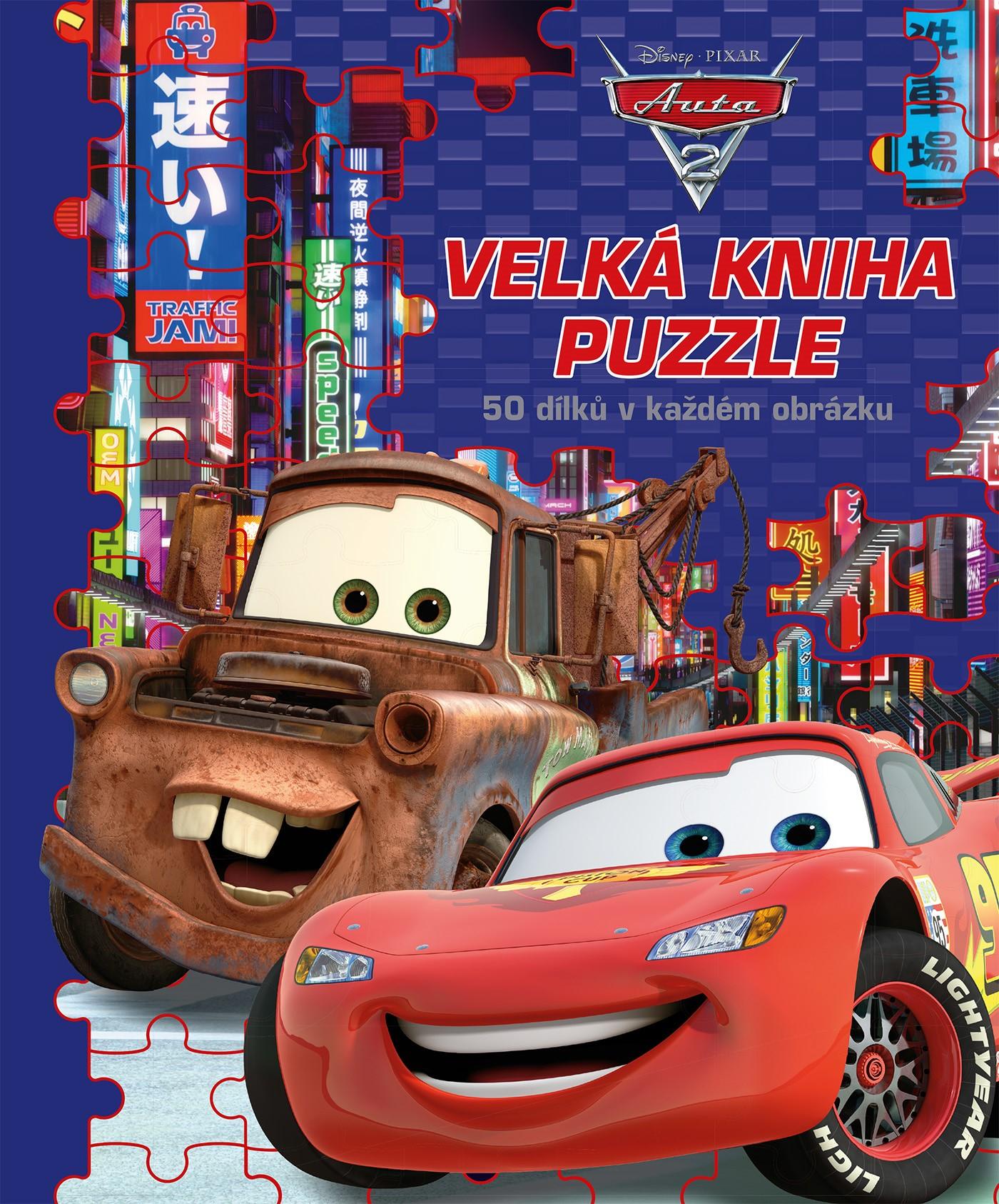 Auta - Velká kniha puzzle