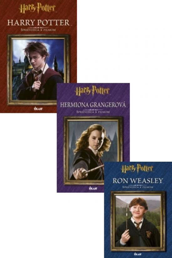 Harry Potter - Sprievodca k filmom Ron Weasley - Sprievodca k filmom Hermiona Grangerová - Sprievodca k filmom KOMPLET